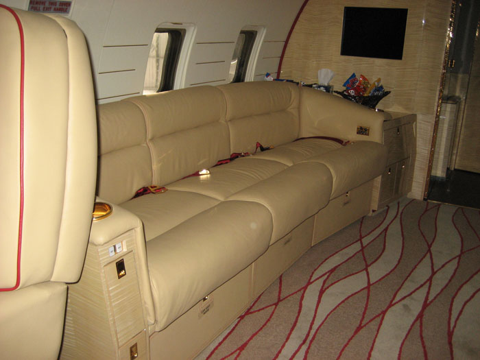 Aircraft Seat Upholstery Cockpit Divans For Private Jets