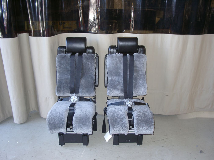 Aircraft Seat Upholstery, Cockpit Divans for Private Jets