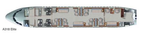 A318 Interior Cabin Layout