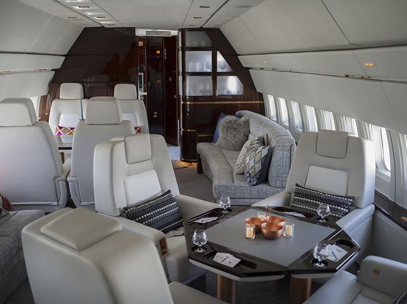 Aircraft interior - game table