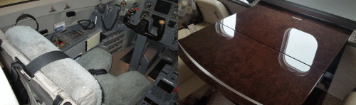 bombardier pilot seat and table